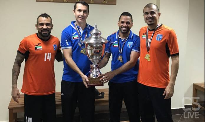 Vai all'articolo: Vampeta e Lino Gomes a braccia alzate: 5-3 al Kuwait Club in Supercoppa VIDEO